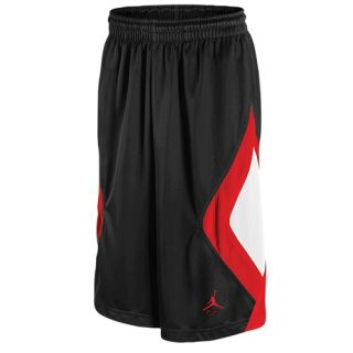 Jordan Retro 4 Caged Up Shorts   Mens   Basketball   Clothing   Black/Fire Red/White