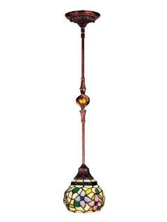 Dale Tiffany TH100878 Dianna Mini Pendant Light, Antique Golden Sand and Art Glass Shade