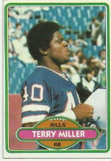 1980 Topps Terry Miller (Buffalo Bills) Football Trading Card #243