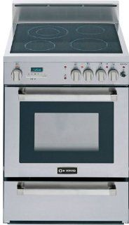 "Verona VEFSEE244PSS 24"" Stainless Steel Electric Smoothtop Range   Convection Appliances"