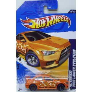 Hot Wheels Heat Fleet Mitsubishi 2008 Lancer Evolution Orange #158/247 Toys & Games