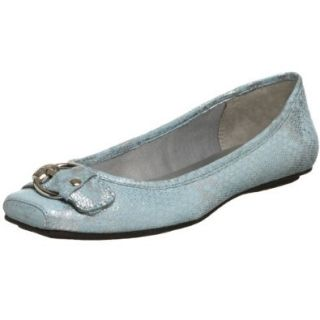 AK Anne Klein Women's Impress Flat,Blue,6.5 M US Shoes