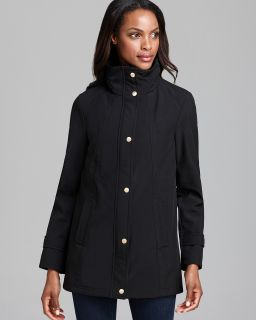 Ellen Tracy Rain Jacket   Soft Shell Snap Front's