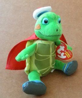 TY Beanie Babies Tuck the Turtle Stuffed Animal Plush Toy   6 inches tall   From Wonder Pet Toys & Games