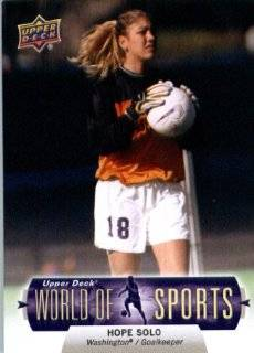 2011 Upper Deck World of Sports Soccer Card #266 Hope Solo Washington Huskies   Encased Trading Card Sports Collectibles