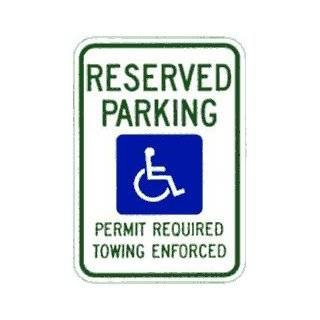Metal traffic Sign 12x18 Arkansas   Handicapped Parking, Sign MaterialE.G. Reflective on Aluminum