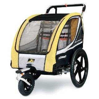 ZUMU 3 in 1 Bike Trailer Jogger & Stroller for 2 Kids (up to 100#) or Pet Dog Baby