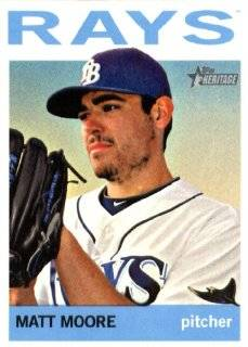 2013 Topps Heritage MLB Trading Card # 273 Matt Moore Tampa Bay Rays Sports Collectibles