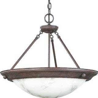Progress Lighting P3495 33EB Chain Hung Fixture with Faux Tiffany Art Glass and 120 Volt/ 277 Volt Hpf Electric Ballast, Cobblestone