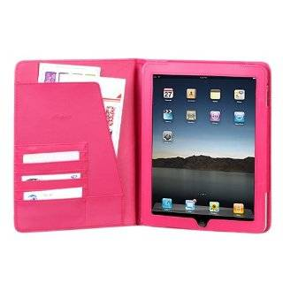 High Quality Hot Pink Leather Cover Protective Case Jacket Magnetic Closing Flap Credit Card ID Passport Slots for Apple iPAD i Pad 3G, Wifi Model 16GB 32GB 64GB Tablet Slate Computers & Accessories