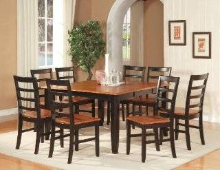 5 PC Square Dinette Kitchen Dining Table Set 4 Chairs in Black Finish Home & Kitchen
