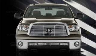 2010 2011 Toyota Tundra SES Chrome Billet Grille (Top & Bottom) Automotive