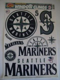 MLB Seattle Mariners 11 x 17 Window Cling Sports & Outdoors