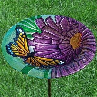 Monarch Floral Birdbath Garden, Lawn, Supply, Maintenance Patio, Lawn & Garden