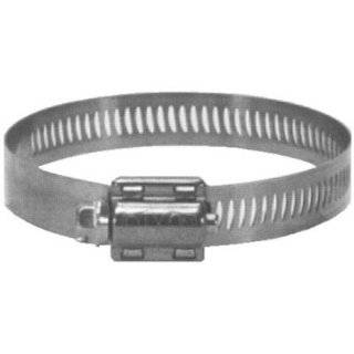 "Dixon HS Style 300 Stainless Steel Worm Gear Hose Clamp, 1/2"" Bandwidth, 1 9/16""   2 1/2"" Hose OD, SAE J1508, Box of 10"
