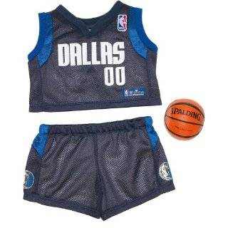 Build a Bear Workshop, Dallas Mavericks Basketball Uniform 3 pc. Teddy Bear Sports Team Outfit Toys & Games
