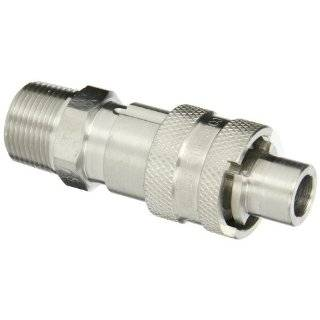 "Dixon Valve QSS43 Stainless Steel 303 Dix Lock Air Fitting, Quick Acting Coupler, 1/2"" Male Head x 1/2"" NPT Male End"