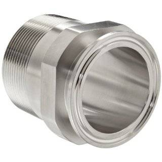 Dixon 21MP G Series Stainless Steel 304 Sanitary Fitting, Clamp Adapter, Tube OD x NPT Male