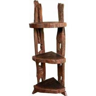 Groovy Stuff Wolf Creek Teak Wooden Corner Shelf   Tf 304