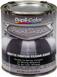 Dupli Color (BSP307 2 PK) 'Paint Shop' Matte Finish Clear Coat Finish System Top Coat   1 Quart, (Case of 2) Automotive