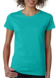 Gildan Missy Fit Heavy Cotton T Shirt Tropical Blue Xl