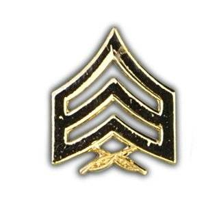 US Marine Corps Sergeant Stripes Gold Lapel Pin