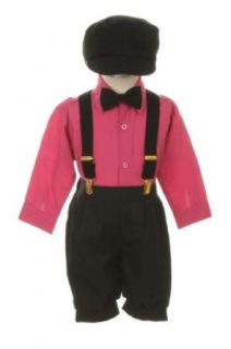Vintage Dress Suit Tuxedo Knickers Outfit Set Baby Boys & Toddler, Black Fuschia Clothing