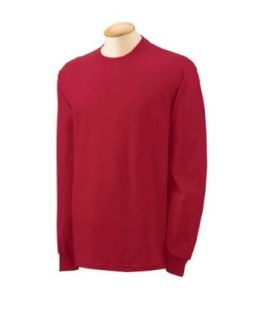 Gildan 5.3 oz. Heavy Cotton Long Sleeve T Shirt, CARDINAL RED, X Large. G540 Clothing