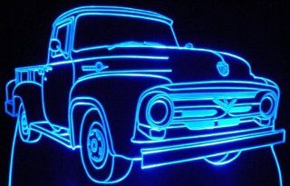 1956 Ford F250 Pickup Truck Acrylic Lighted Edge Lit LED Sign / Light Up Plaque 56   Decorative Signs