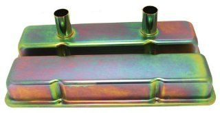 1958 86 Chevy Small Block 283 305 327 350 400 Circle Track Racing Steel Valve Covers   Zinc Automotive