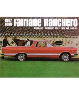 1967 Ford Fairlane Ranchero Sales Brochure Literature Advertisement Options Automotive