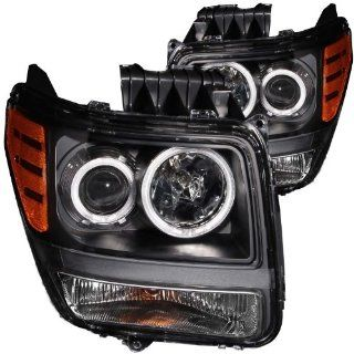 Anzo USA 111140 Dodge Nitro Projector Halo Black Clear AmberHeadlight Assembly   (Sold in Pairs) Automotive