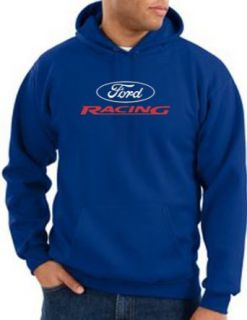 Ford Racing Hoodie   Mens Hooded Sweatshirt Hoody   Royal Blue Clothing