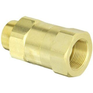 "Dixon Valve SCVM10 Brass Safety Check Valve, 1 1/4"" NPT Male x 1 1/4"" Hose ID Barbed, 300 340 SCFM Flow Industrial Check Valves"