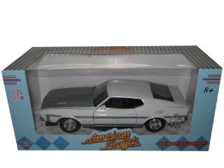 "1971 Ford Mustang Boss 351 124 ""American Graffiti"" White Toys & Games"