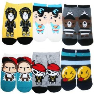 Angelina Men's Low Cut Socks with THE Characters. #351, Mens One Size, 11 13 Clothing