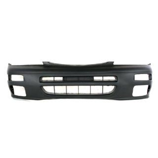 CarPartsDepot 352 36887 10 PM FRONT BUMPER PRIMERED BLACK PLASTIC FACIAL COVER W/FOG HOLE NI1000158 Automotive