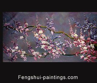 Cherry Blossom Abstract Modern Oil Painting Hand Painted Canvas Wall Art Framed 353