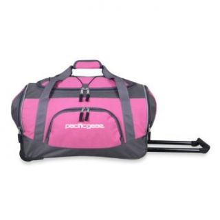Pacific Gear 20 Inch Rolling Duffel Bag   Pink Shoes