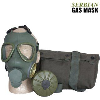 Serbian Army Military Issue Gas Mask Personal Survival Set