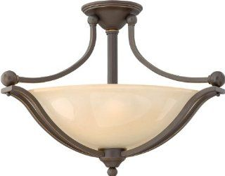 Hinkley Lighting 4669OB Three Light Semi Flush Ceiling Fixture from the Bolla Collection, Olde Bronze