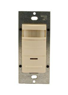 Leviton OSS10 IDT Decora Passive Infrared Wall Switch Occupancy Sensor, 180 Degree, 1200 sq. ft. Coverage, LED Adjustable Night Light, Manual On, Light Almond   Motion Activated Wall Switches