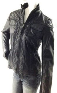 Michael Kors Quilted Biker Leather Jacket Clothing