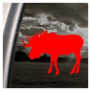 Bull Moose Hunting Red Decal Car Truck Window Red Sticker   Themed Classroom Displays And Decoration