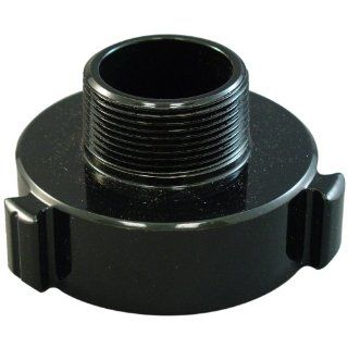 "Moon 369 1561524 Aluminum Fire Hose Adapter, Rocker Lug, 1 1/2"" NPT RIG RL Female x 1 1/2"" NH Male"