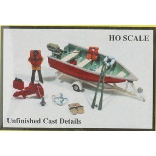 DELUXE BOAT, MOTOR, TRAILER AND MARINE ACCESSORIES   JL INNOVATIVE DESIGN HO SCALE MODEL TRAIN ACCESSORIES 456 Toys & Games
