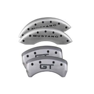 MGP Caliper Covers Ford Mustang 2005 2006 2007 2008 2009 2010 (Licensed Logo, Mustang & GT)   Silver Automotive
