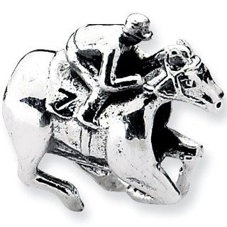 Reflection Beads Silver Race Horse Sports Bead Reflection Beads Jewelry