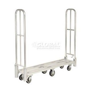 New Age Aluminum Deck Narrow Aisle, High End Platform Truck With Folding Handles