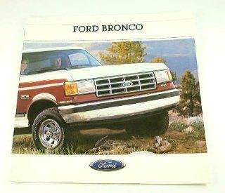 1988 88 Ford BRONCO Truck BROCHURE Eddie Bauer XLT  Other Products